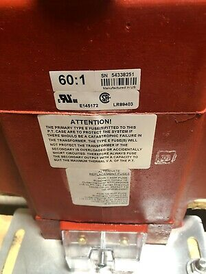 Potential Transformer Ge Ptw4-1-75-722f 7200 Volt Never Used