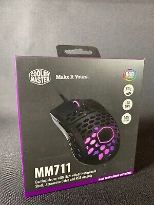 Cooler Master MM711 Gaming Mouse Usb Optical 16000 Dpi New Sealed Free Shipping!