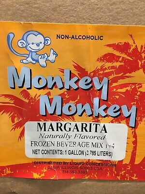 Concentrate Slush Drink Mix Beverage Mix Case 4 1 Gallon Monk Margarita Frozen
