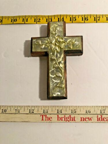 Tin and Wood Wall Cross