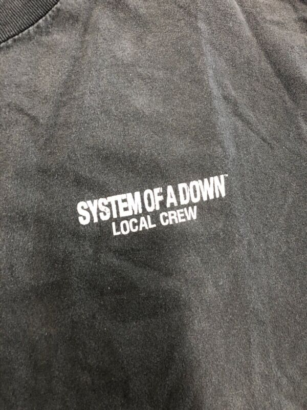 Vintage T Shirt - System Of A Down Local Crew Tennessee River Size XL Black
