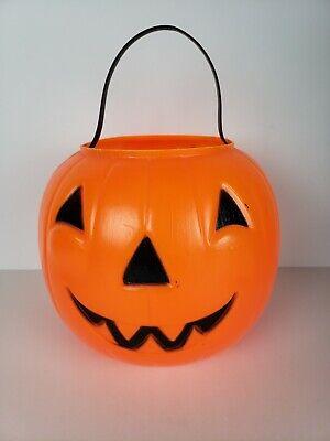 Empire Blow Mold Jack 0 Lantern Pumpkin Trick Or Treat Bucket Pail 1968