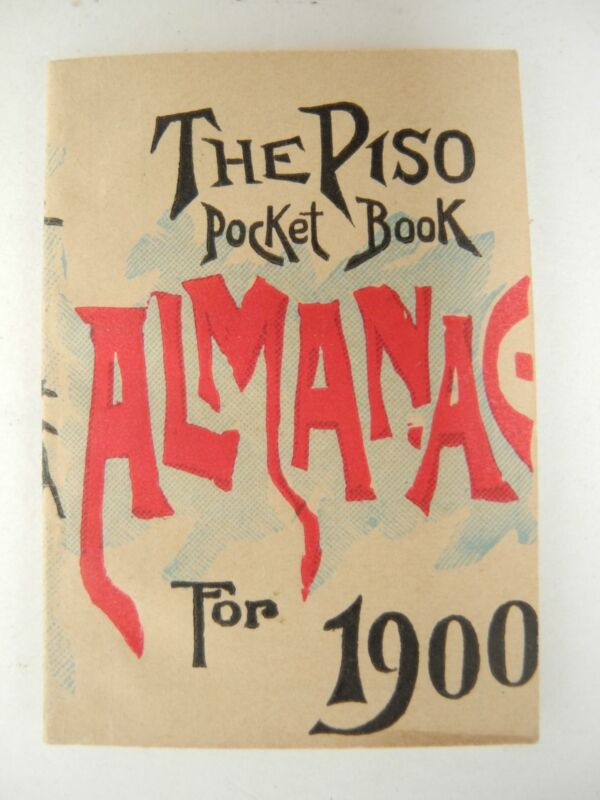 Vintage Original 1900 The Piso Miniature Pocket Book Almanac Warren, PA
