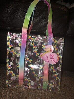 New Nickelodeon Girls JoJo Siwa Bow Rainbow Pink Tote Shopping Bag Brand New