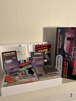 Nintendo Entertainment System Action Set Console NES System In Box