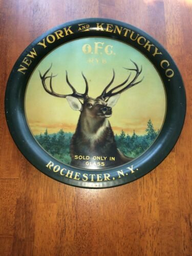 O.F.C. Rye New York &  Kentucky Co. Pre Prohibition Whiskey Tray Rochester Ny