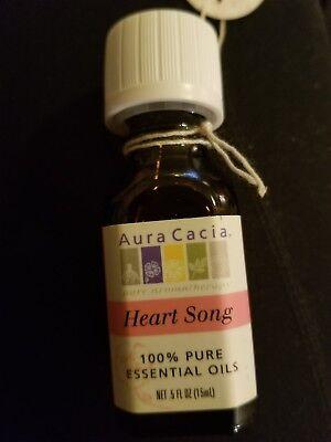 Aura Cacia Heart Song Essential Oil .5 FL OZ with Lavender, Geranium, & Rose