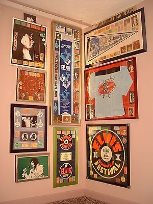 "ELVIS ""POWER CORNER"" COLLECTION ALL ORIGINALS HILTON SIGNED"