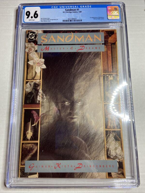 SANDMAN #1 (1989) CGC 9.6 / Neil Gaiman/1st Morpheus / White pages! Just Graded!