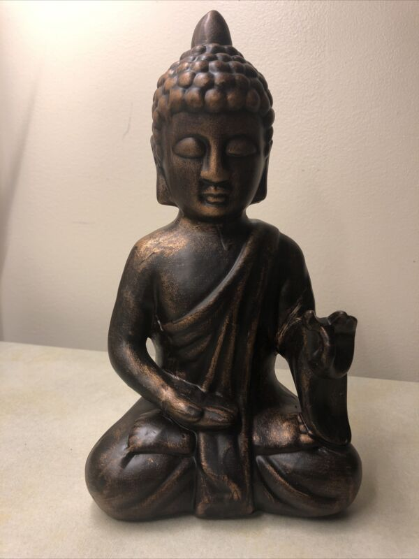 "Karana Mudras Budda Statue.  Ceramic Bronze Color. 10.5"" Height 6"" Wide"
