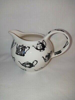 Paul Cardew Antique Pewter 2007 Creamer Milk Jug Teapot Design Carafe Coffee