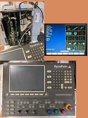 Dynapath 2000 Autocon Cnc Controller Panel Rack And Cables Mill Hurco 2000m