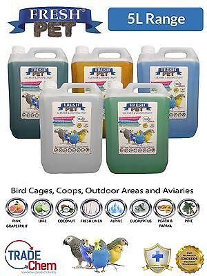 Pet Cage Cleaner - 5L FRESH PET Bird Specialist Disinfectant, Cage Cleaner, Aviary Deodoriser
