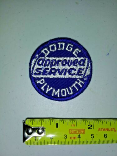 VINTAGE Embroidered Automotive Gasoline Patch UNUSED - DODGE PLYMOUTH APP SERVIC