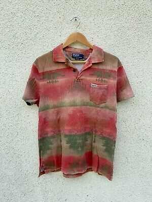Polo by Ralph Lauren Mens Aztec South Western Short Sleeve Cotton Polo Shirt LRG
