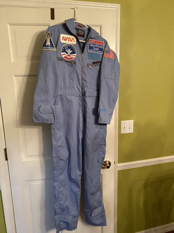 Vintage Authentic NASA US Space Camp Patches Blue Suit Collector