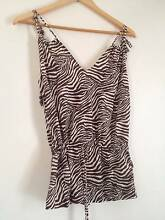 Bettina Liano animal print beach coverup top size 8 East Cannington Canning Area Preview