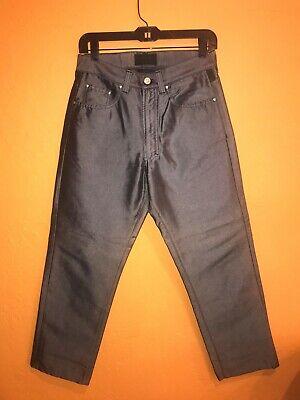 GIANNI VERSACE Men's Metallic Silver Pants / Jeans-style Sz. 32