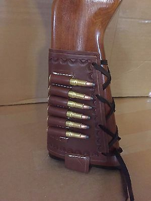 357 Magnum Rifles (Fits 357 Magnum Cal Leather Bullet Ammo Cartridge Rifle Stock Buttstock)