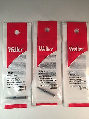 3x Original Weller Pta8 Soldering Screwdriver116800f For Tcp Tc201