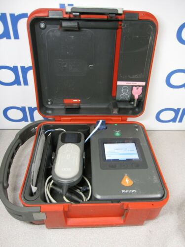 PHILIPS HEARTSTART FR3 AED BUNDLE w/3-YEAR BATTERY, QCPR, Pedi Key, Hard Case