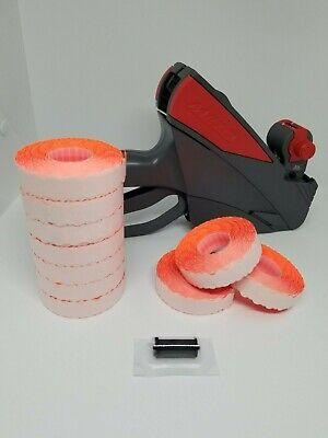 Pricegun Starter Kit - Meto 5.16 Pricegun Box Fluro Red Labels And Ink Roller