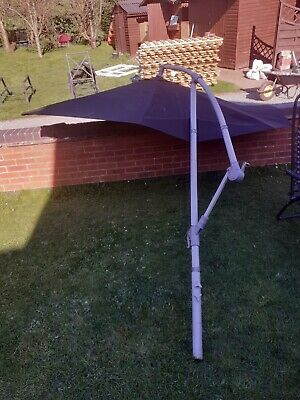 Garden Parasol wind out - no base steel tub that can place in to a base