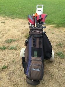Women's LH golf clubs with bag and cart