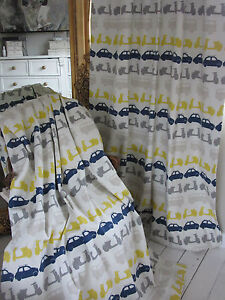John Lewis Here there and everywhere vechicles curtains Thermal blackout *SALE*