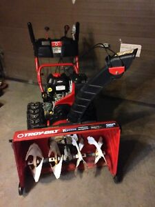 Snowblower electric start, power steering