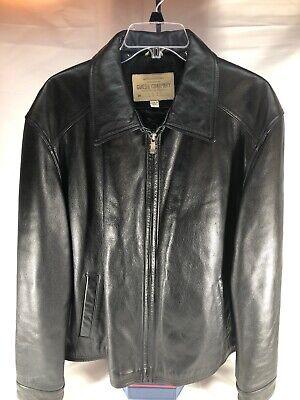 guess leather jacket men Large