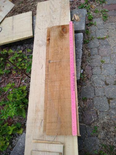 Lot Of 6 Hardwood LUMBER WOOD BOARDS Rough Cut Oak Color Varies 35 x 8 X - $35.00
