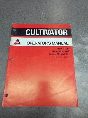 Allis Chalmers Cultivator Model 93 95 Operators Manual 70593065