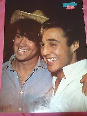 Rob Lowe Wham  George Michael Andrew Ridgeley Young Sexy Clipping Pin Up