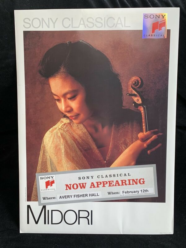 MIDORI violin - Large SONY Promo Store Display Wall/Counter POSTER