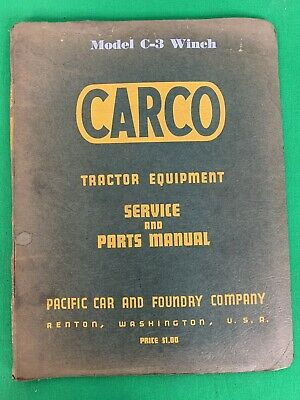 Oem Carco Model C-3 Winch Service Parts Manual