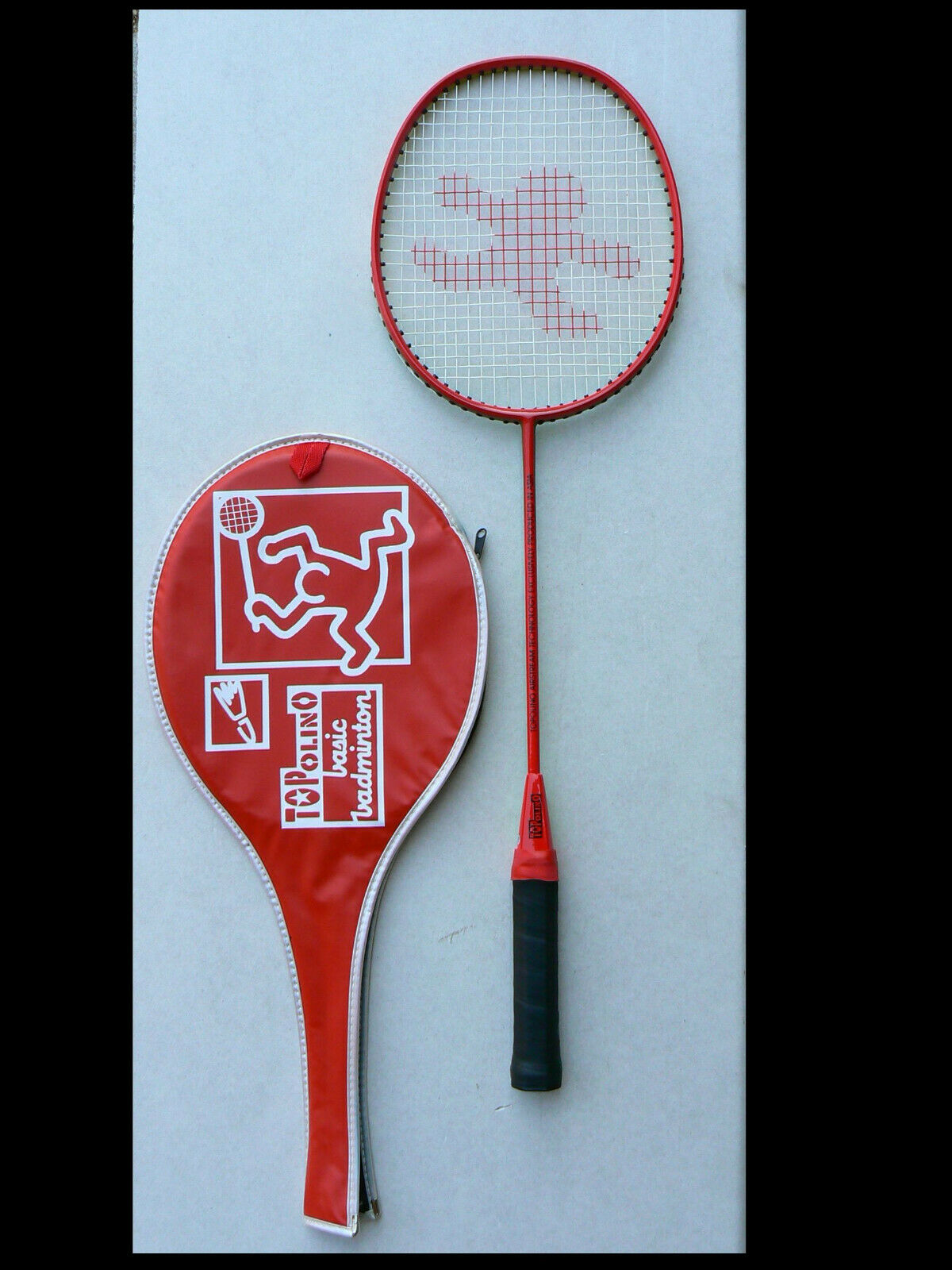 Badmintonracket Schläger TOPOLINO Iso Carbon mit Hülle