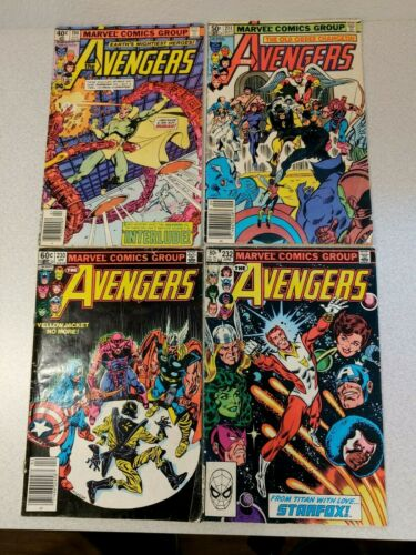 AVENGERS LOT OF 4 READER COMICS 194, 211, 230, 232 BRONZE AGE!