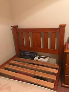 King Single Pure Pine Wood Bed Mill Park Whittlesea Area Preview