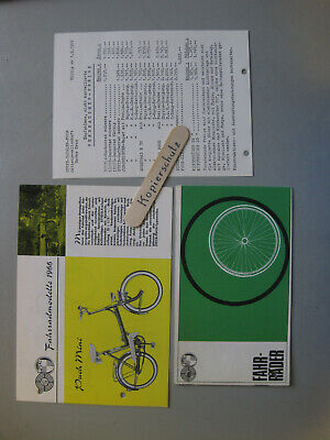 L806: Steyr Daimler Puch Mini Fahrradprospekt 2 Stück  Preisliste 1966