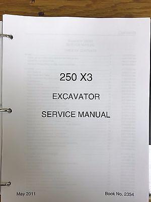 Link Belt 250 X3 Excavator Service Shop Repair Workshop Manual