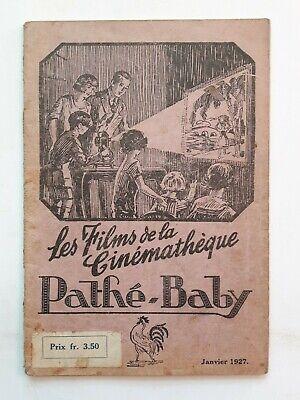 VINTAGE PATHÉ-BABY 1927 CATALOGUE 60 PAGES COMPLET 18X12.4CM FELIX THE KAT