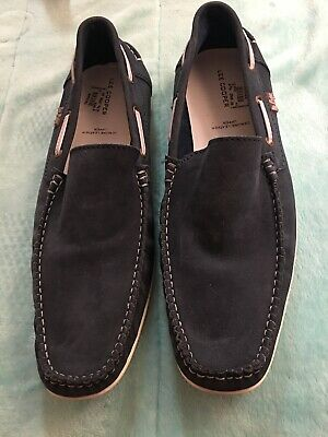 Used, Men's LEE COOPER  Original Blue Leather Loafers Shoes SZ 44/10 for sale  Shipping to India