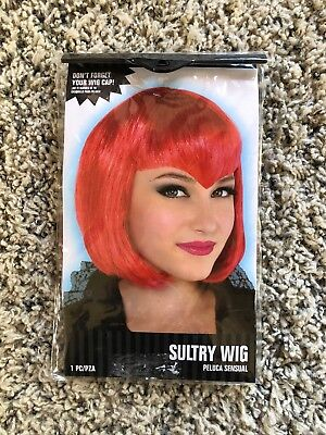 Short Red Wig Halloween (Short Hair Straight Bob Red Cosplay Wig Halloween Party Hair)