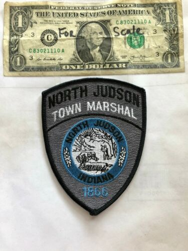 North Judson Indiana Police Patch Un-sewn great shape (Town Marshal)