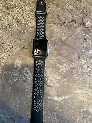 Apple nike gps Iwatch series 3 38mm. black on black Sports Band
