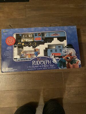 Rudolph Red Nosed Reindeer Island of Misfit Toys Train Set Playing Mantis NEW