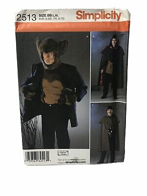 Simplicity 2513 Steampunk Sherlock Werewolf Mens Sz L XL Sewing Pattern Uncut
