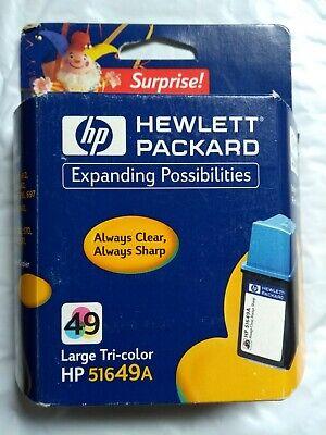 HP 49 Tri-color Inkjet Cartridge 51649a 49 Tri Color Inkjet Cartridge