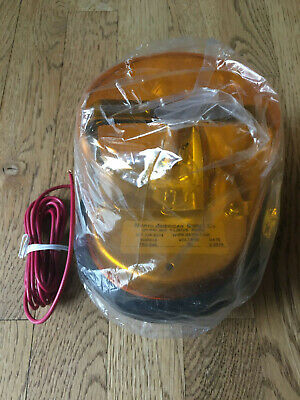 North American Signal Co. Tr2-24a Amber Revolving Light Incandescent 135 Fpm New